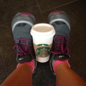 My ritual day before the race 3 mile run and Starbucks coffee