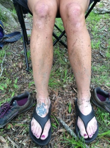 Post race mud